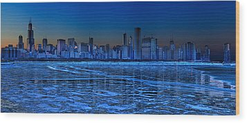 Cityscape Wood Print by Justin W. Kern