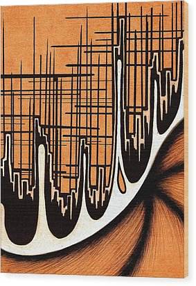 Cityscape One Wood Print by Jeff DOttavio