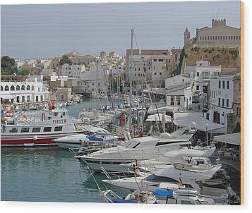 Ciutadella Marina Wood Print by Rod Johnson