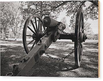 Civil War Cannon Wood Print by Edward Myers