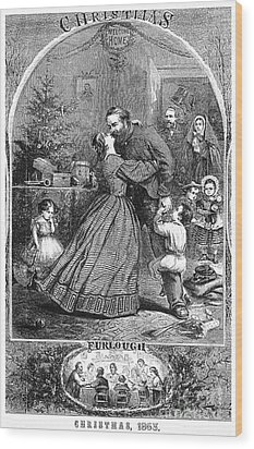Civil War: Christmas Wood Print by Granger