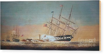 Civil War Merrimack 1862 Wood Print by Granger