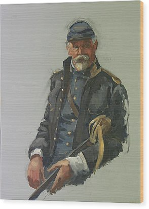 Civil War Officer Wood Print by Mary McInnis