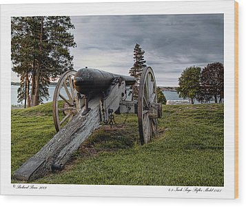 Wood Print featuring the photograph Civil War Rifle by Richard Bean