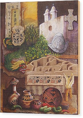 Civilizations Of Paquime Wood Print by Candy Mayer