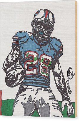 Cj Spiller 1 Wood Print by Jeremiah Colley