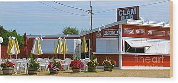 Clam Bar Wood Print