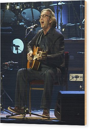 Clapton Acoustic Wood Print by Steven Sachs