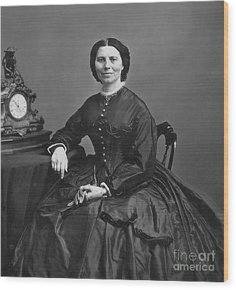 Clara Barton (1821-1912) Wood Print by Granger