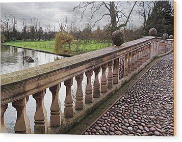 Wood Print featuring the photograph Clare College Bridge Cambridge by Gill Billington
