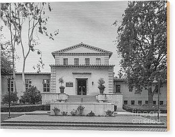 Claremont Graduate University Harper Hall Wood Print by University Icons