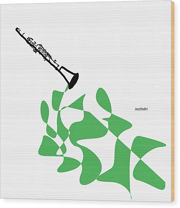Clarinet In Green Wood Print