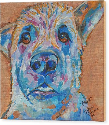 Wood Print featuring the painting Clark by Jeanne Forsythe
