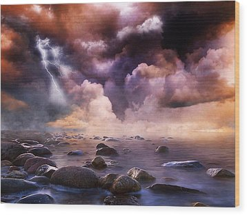 Clash Of The Clouds Wood Print by Gabriella Weninger - David