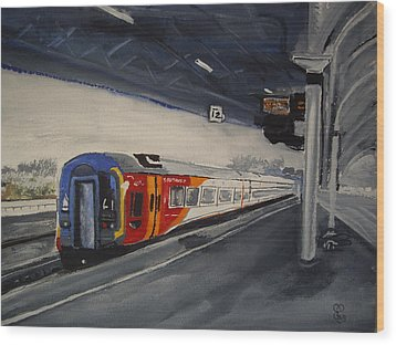 Class 159 Bristol Temple Meads Wood Print by Carole Robins