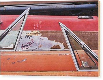 Classic Auto Doors And Windows  Wood Print by Jim Hughes