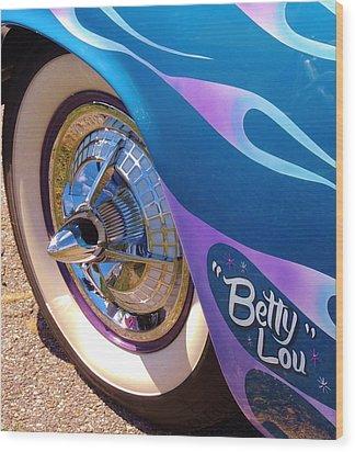 Classic Car Betty Lou Wood Print