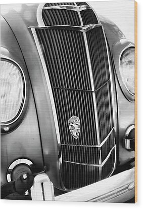 Classic Car Grill 1935 Desoto - Photography Wood Print by Ann Powell