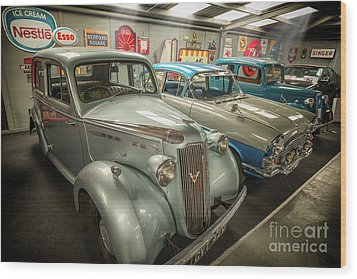 Wood Print featuring the photograph Classic Car Memorabilia by Adrian Evans