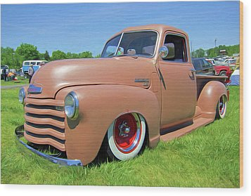 Classic Chevrolet Truck Wood Print by Marion Johnson