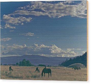 Classic Country Scene Wood Print
