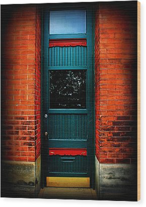 Classic Door Wood Print by Perry Webster