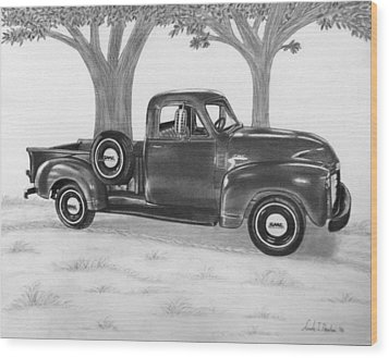 Classic Gmc Truck Wood Print by Nicole I Hamilton