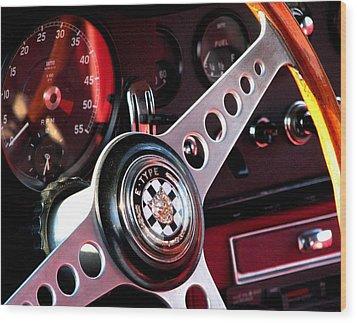 Classic Jaguar E Type 4.2 Wood Print
