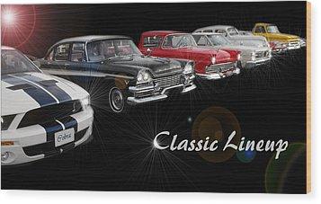 Classic Lineup Wood Print