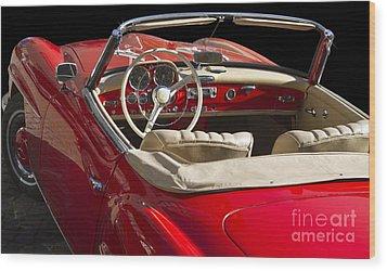 Classic Mercedes Benz 190 Sl 1960 Wood Print by Heiko Koehrer-Wagner