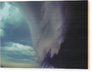 Classic Nebraska Shelf Cloud 029 Wood Print