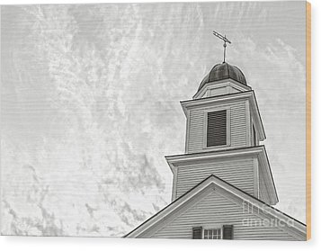 Wood Print featuring the photograph Classic New England Church Etna New Hampshire by Edward Fielding
