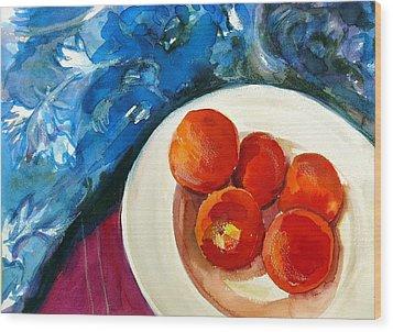 Classic Peaches Wood Print by Doranne Alden