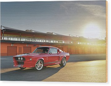 Classic Recreations Shelby Gt500cr Wood Print by Drew Phillips