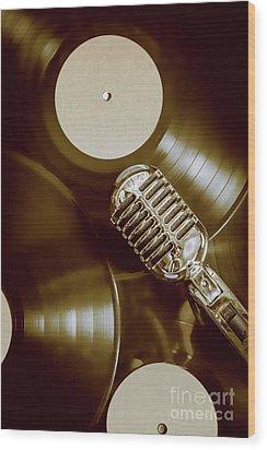 Classic Rock N Roll Wood Print