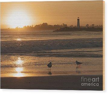 Classic Santa Cruz Sunset Wood Print by Paul Topp