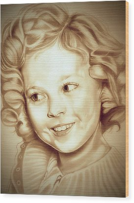 Classic Shirley Temple Wood Print