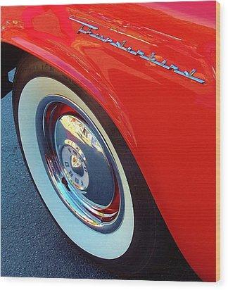 Classic T-bird Tire Wood Print