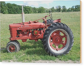 Classic Tractor Wood Print by Richard Bryce and Family
