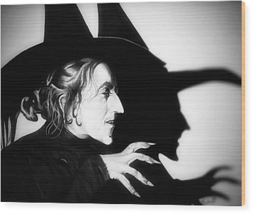 Classic Wicked Witch Of The West Wood Print by Fred Larucci