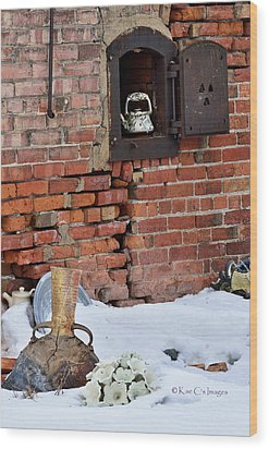 Wood Print featuring the photograph Classy Pottery Remnants by Kae Cheatham