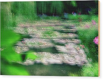 Wood Print featuring the photograph Claude Monets Water Garden Giverny 1 by Dubi Roman