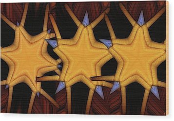 Clawed Stars  Wood Print by Ron Bissett