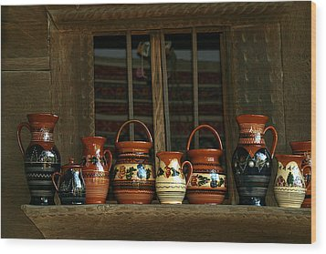 Clay Jugs  Wood Print