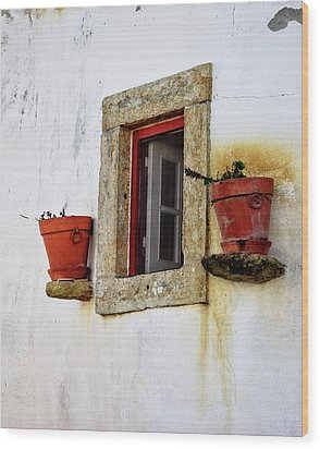 Wood Print featuring the photograph Clay Pots In A Portuguese Village by Marion McCristall