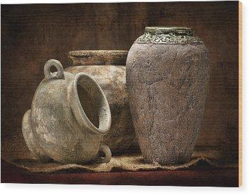 Clay Pottery II Wood Print by Tom Mc Nemar