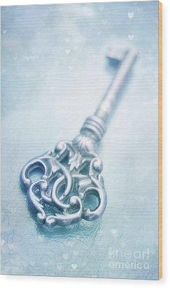 Cle Bleu Wood Print by Priska Wettstein