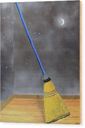 Wood Print featuring the painting Cleaning Out The Universe by Thomas Blood