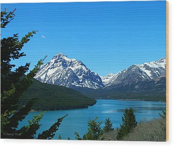 Clear Blue Lower Two Med Lake Wood Print