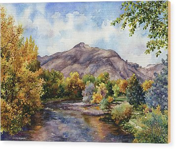 Wood Print featuring the painting Clear Creek by Anne Gifford